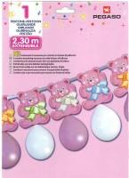 Bär-Ballongirlande pink